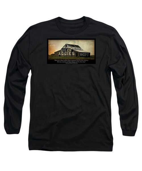 A Handful Of Aggies Long Sleeve T-Shirt by Stephen Stookey