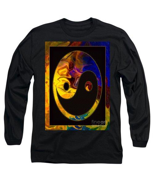 A Happy Balance Of Energies Abstract Healing Art Long Sleeve T-Shirt