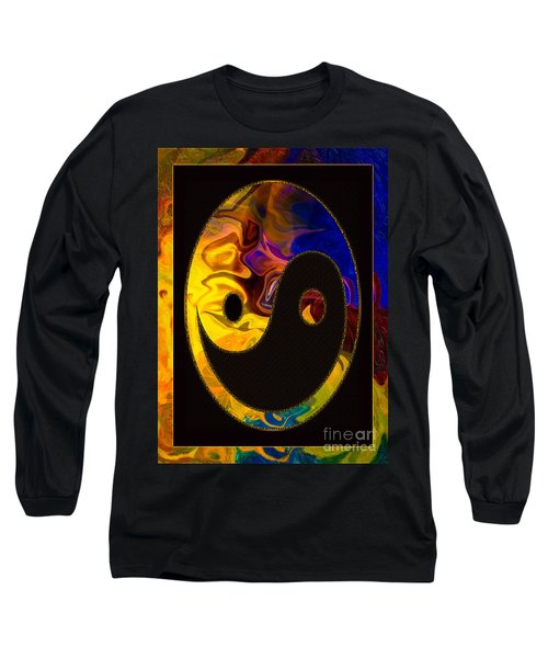 Long Sleeve T-Shirt featuring the digital art A Happy Balance Of Energies Abstract Healing Art by Omaste Witkowski