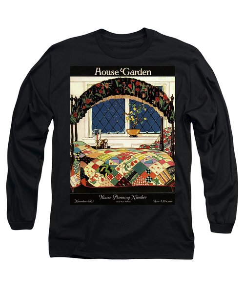 A House And Garden Cover Of A Four-poster Bed Long Sleeve T-Shirt