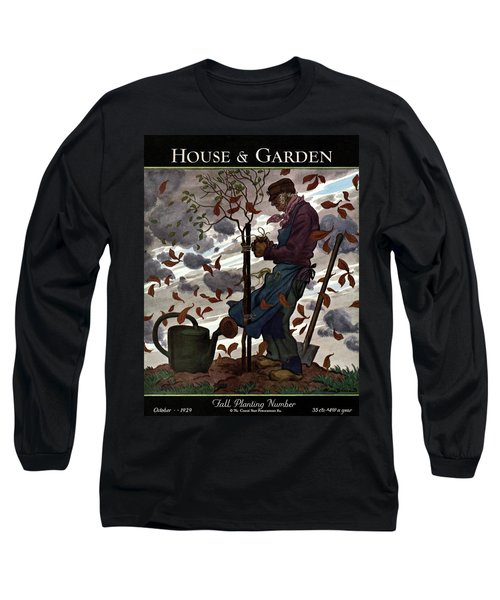 A House And Garden Cover Of A Gardener Long Sleeve T-Shirt