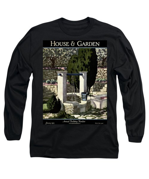 A House And Garden Cover Of A Well Long Sleeve T-Shirt
