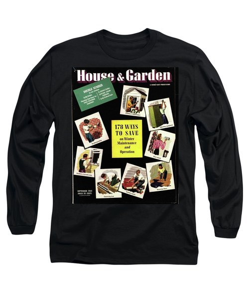 A House And Garden Cover Of Renovation Long Sleeve T-Shirt