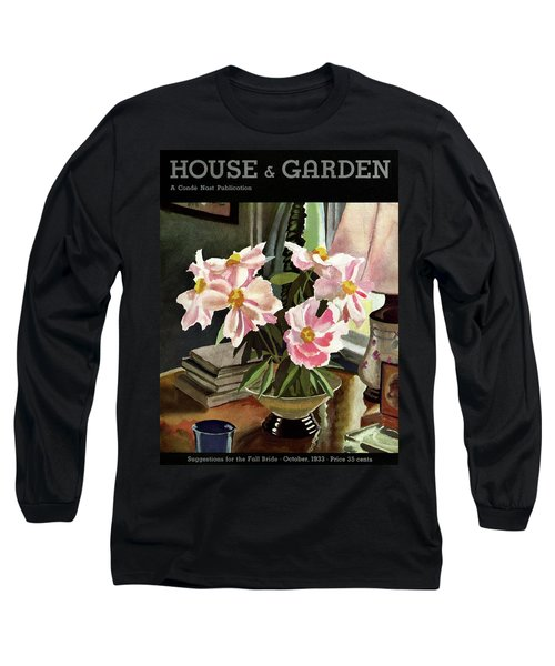 A House And Garden Cover Of Rhododendrons Long Sleeve T-Shirt