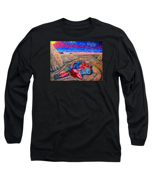 Long Sleeve T-Shirt featuring the painting A La Campagne/at The Country/ by Viktor Lazarev