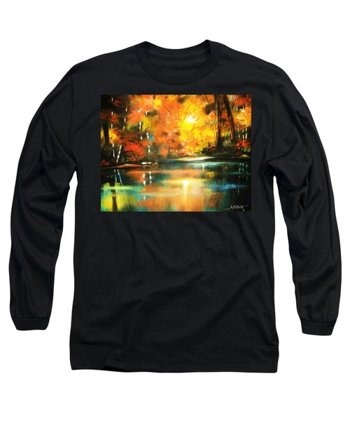 A Light In The Forest Long Sleeve T-Shirt by Al Brown