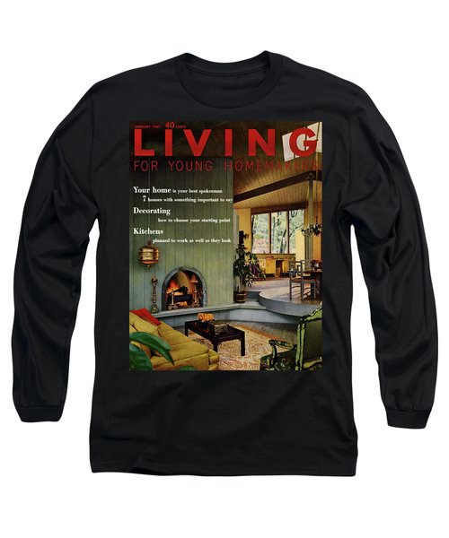 A Living Room With Sherwin-williams Wood-paneling Long Sleeve T-Shirt