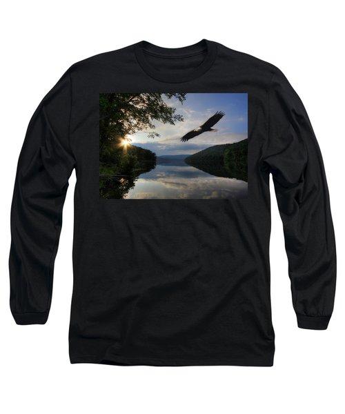 A New Beginning Long Sleeve T-Shirt by Lori Deiter