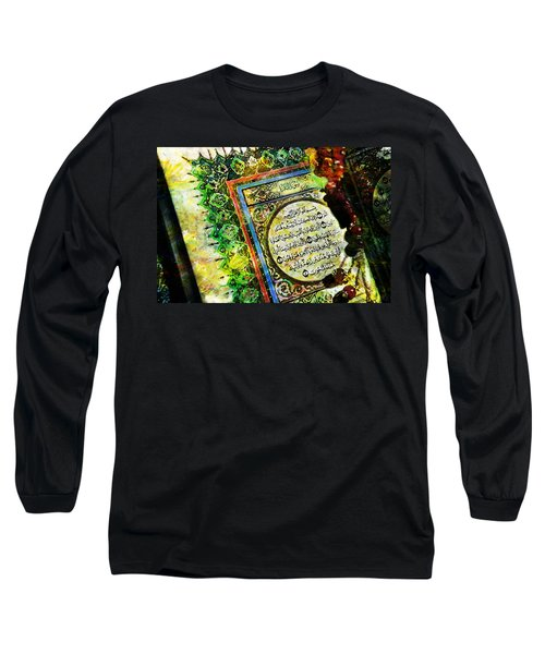 A Page From Quran Long Sleeve T-Shirt by Catf