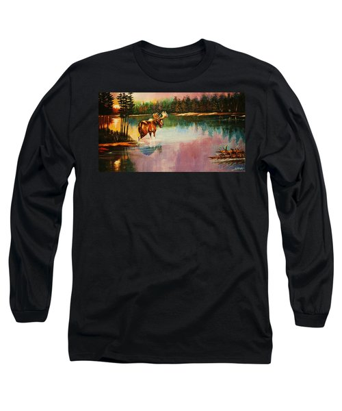 A Pause Before Crossing Long Sleeve T-Shirt