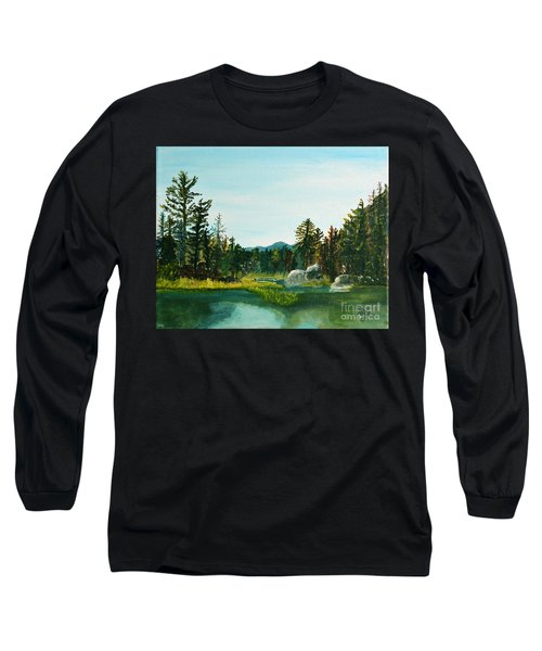 A Peak At Ampersand Mt. Long Sleeve T-Shirt