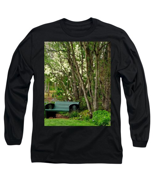 Long Sleeve T-Shirt featuring the photograph A Place To Sit by Rodney Lee Williams