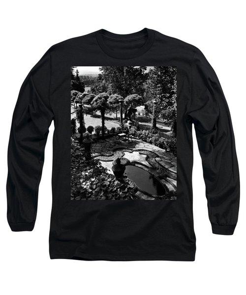 A Pond In An Ornamental Garden Long Sleeve T-Shirt