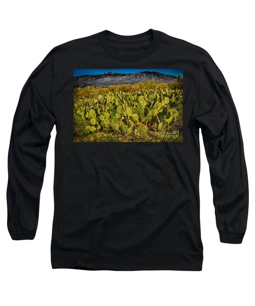 Long Sleeve T-Shirt featuring the photograph A Prickly Pear View by Mark Myhaver