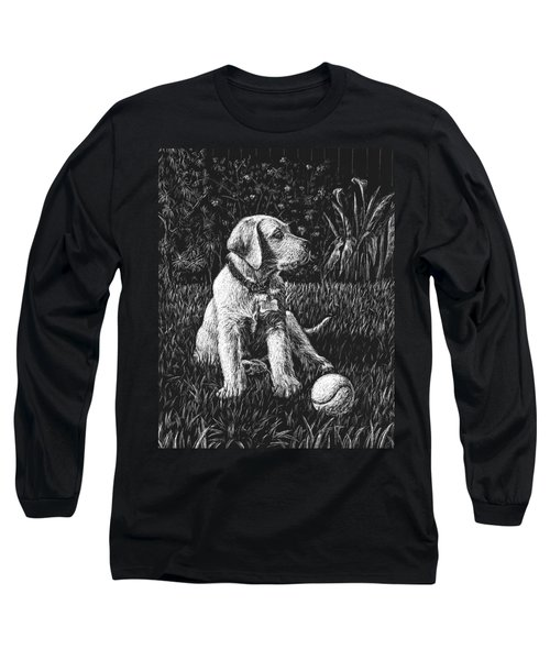 A Puppy With The Ball Long Sleeve T-Shirt