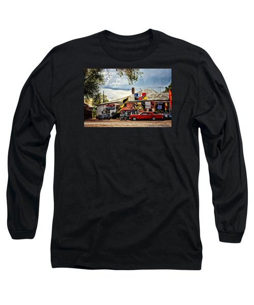 A Ride On Route 66 Long Sleeve T-Shirt by Tricia Marchlik