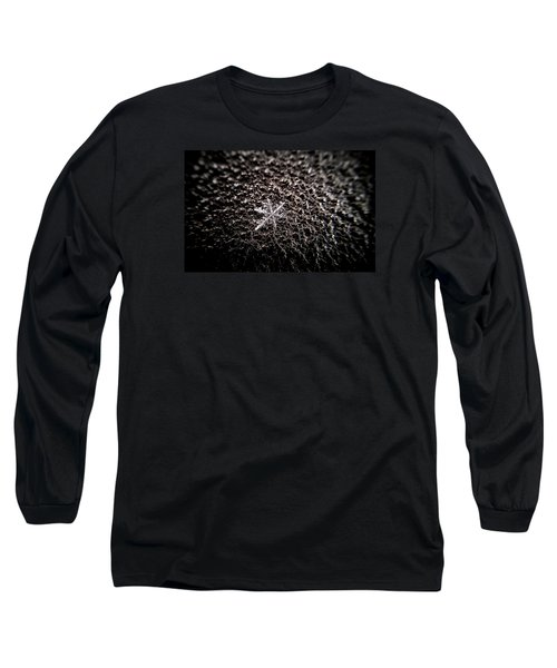 Long Sleeve T-Shirt featuring the photograph A Single Snowflake by Jean Haynes