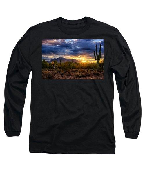 A Sonoran Desert Sunrise Long Sleeve T-Shirt