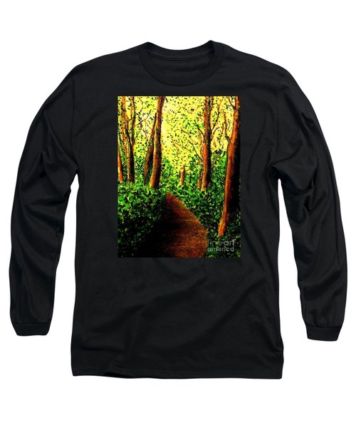 Long Sleeve T-Shirt featuring the painting A Spiritual Awakening by Hazel Holland