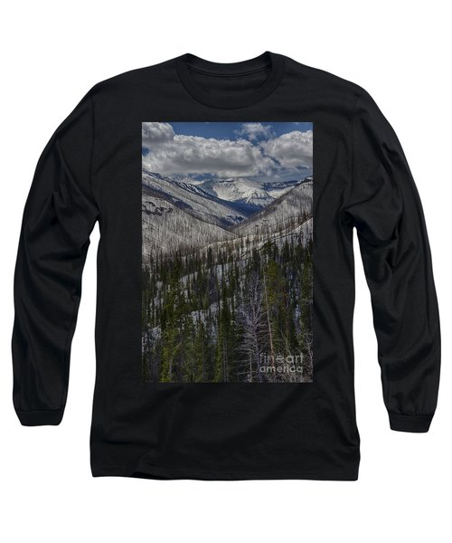 A Spring's Look To The Right On The Way Into Yellowstone Long Sleeve T-Shirt
