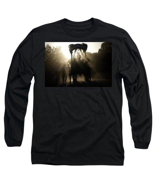 A Statue Of Saint Isidore The Farmer Long Sleeve T-Shirt