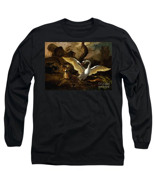 A Swan Enraged By Hondius Long Sleeve T-Shirt