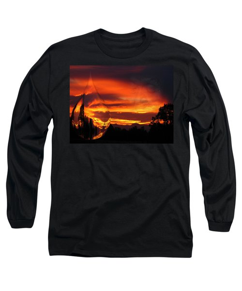Long Sleeve T-Shirt featuring the digital art A Teardrop In Time by Joyce Dickens