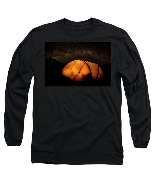 A Tent Illuminates The Night Long Sleeve T-Shirt
