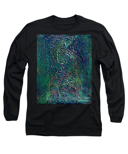 A Touch Of Pink Peacock Long Sleeve T-Shirt