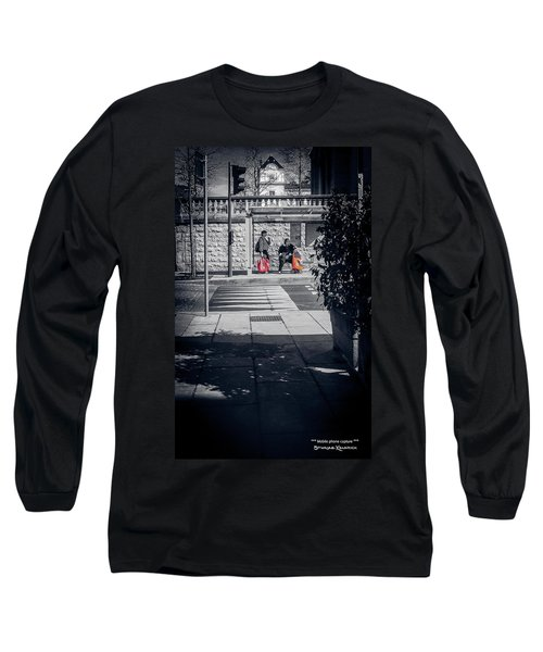 Long Sleeve T-Shirt featuring the photograph A Very Long Waiting Day by Stwayne Keubrick