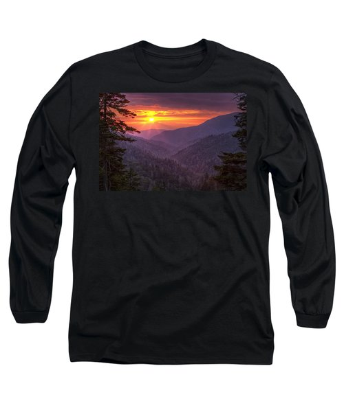 Long Sleeve T-Shirt featuring the photograph A View At Sunset by Andrew Soundarajan