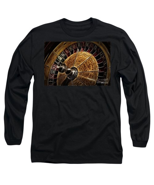 Long Sleeve T-Shirt featuring the photograph A Virginia City Roulette Wheel by Brad Allen Fine Art