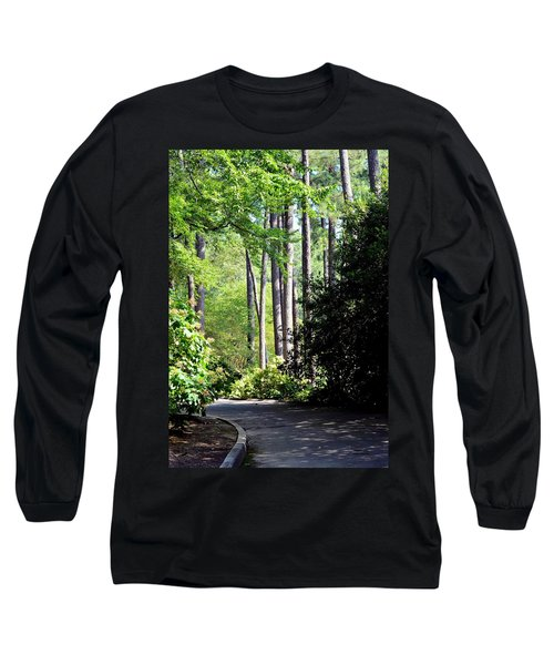 A Walk In The Shade Long Sleeve T-Shirt by Maria Urso