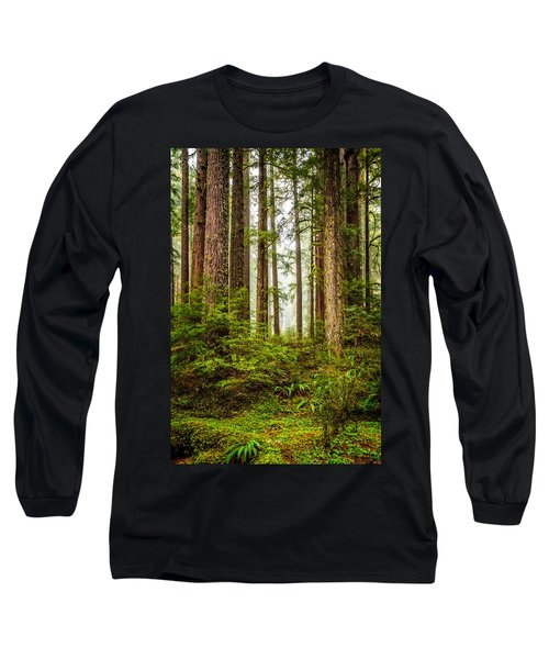Long Sleeve T-Shirt featuring the photograph A Walk Inthe Forest by Ken Stanback