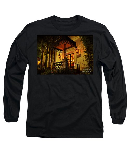 Long Sleeve T-Shirt featuring the photograph A Warm Summer Night In Charleston by Kathy Baccari