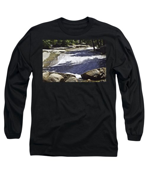 Long Sleeve T-Shirt featuring the photograph A Water Slide by Brian Williamson