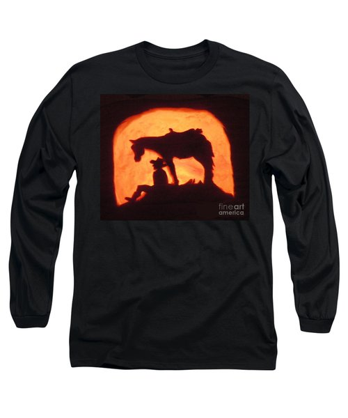 Country Style Halloween Pumpkin Carving Long Sleeve T-Shirt