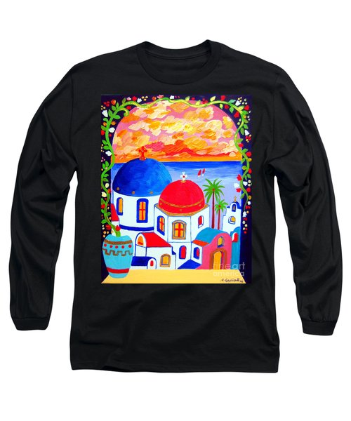A Window Over Santorini Long Sleeve T-Shirt