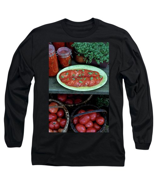 A Wine & Food Cover Of Tomatoes Long Sleeve T-Shirt