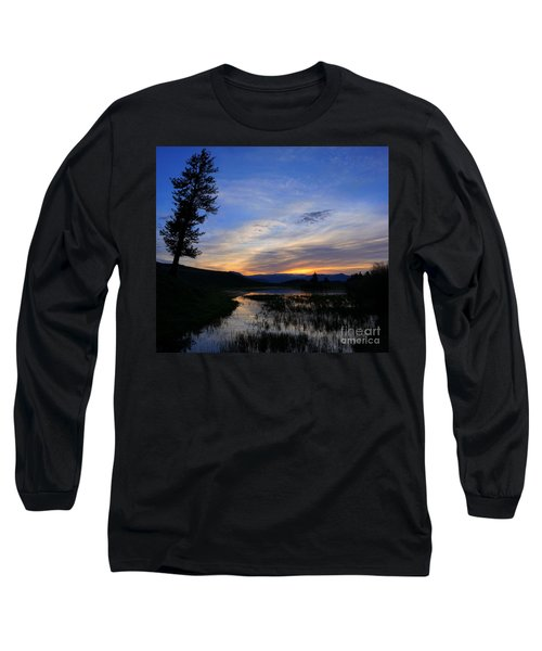 A Yellowstone Lake Before Sunrise Long Sleeve T-Shirt