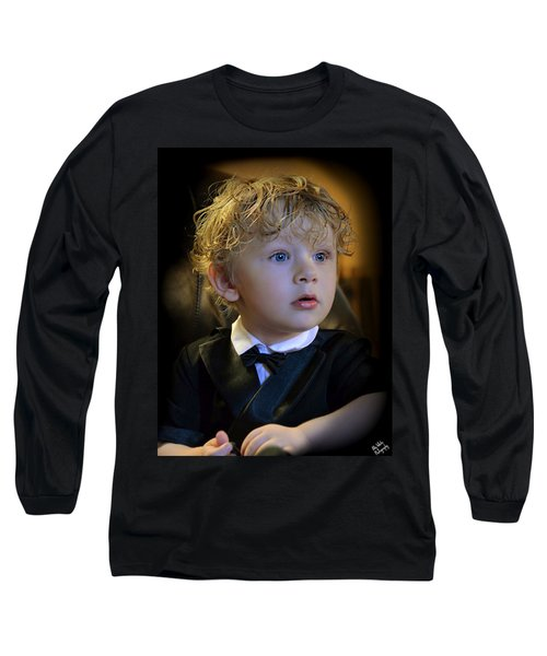 Long Sleeve T-Shirt featuring the photograph A Young Gentleman by Ally  White
