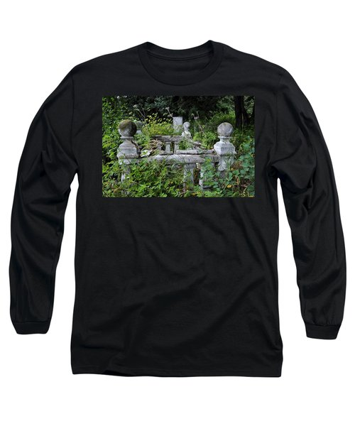 Long Sleeve T-Shirt featuring the photograph Abandoned Cemetery 2 by Cathy Mahnke