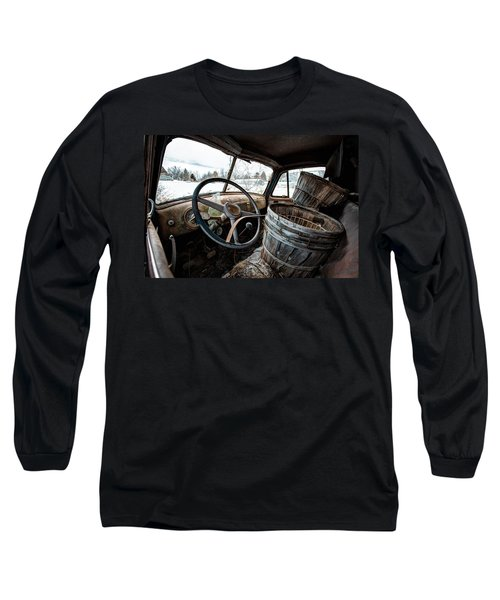 Long Sleeve T-Shirt featuring the photograph Abandoned Chevrolet Truck - Inside Out by Gary Heller