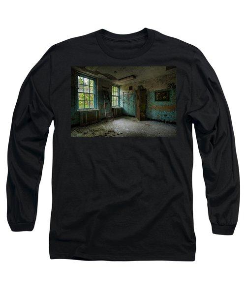 Abandoned Places - Asylum - Old Windows - Waiting Room Long Sleeve T-Shirt