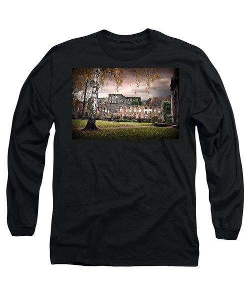Long Sleeve T-Shirt featuring the photograph abbey ruins Villers la ville Belgium by Dirk Ercken