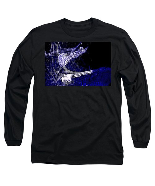 Long Sleeve T-Shirt featuring the photograph Aberration Of Jelly Fish In Rhapsody Series 4 by Antonia Citrino