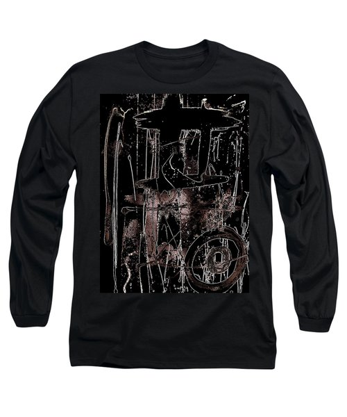Long Sleeve T-Shirt featuring the painting Abidjan by Cleaster Cotton