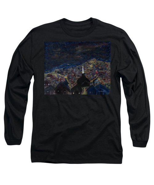 Above The City At Night Long Sleeve T-Shirt