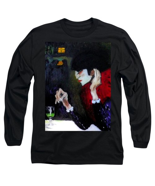 Absinthe Drinker After Picasso Long Sleeve T-Shirt