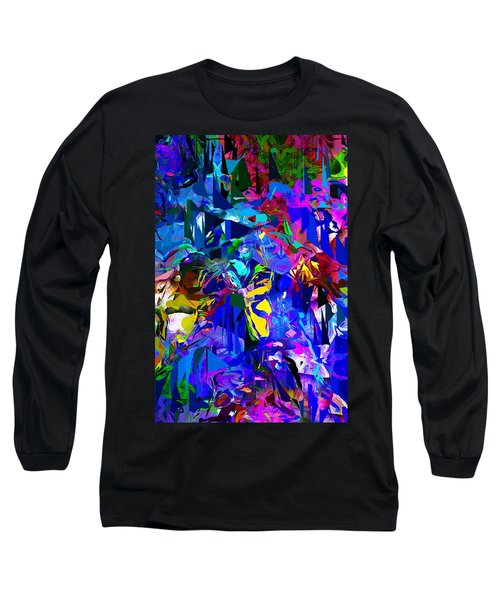 Abstract 010215 Long Sleeve T-Shirt by David Lane